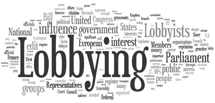 In Defence of Lobbying (6 Jun 2018)